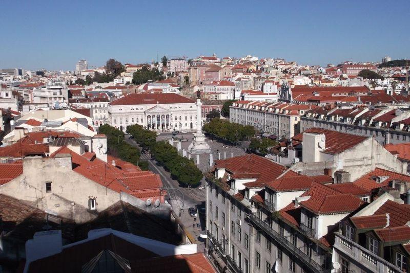 View over Rossio Square. - Lisbon