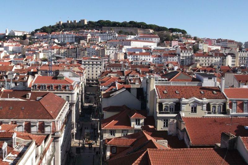 View towards the castle. - Lisbon