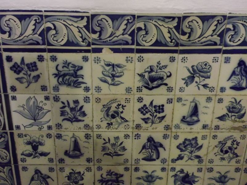 Tiles in Pasteis de Belem. - Lisbon