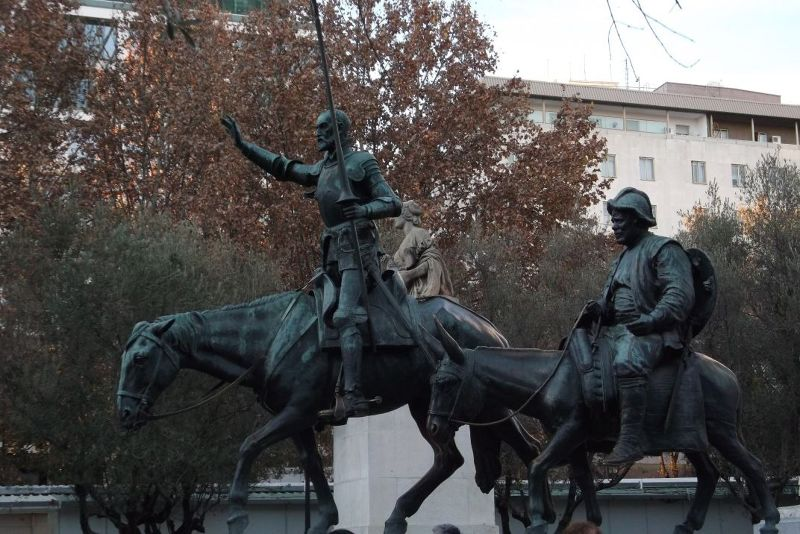 Don Quixote and Sancho Panza. - Madrid