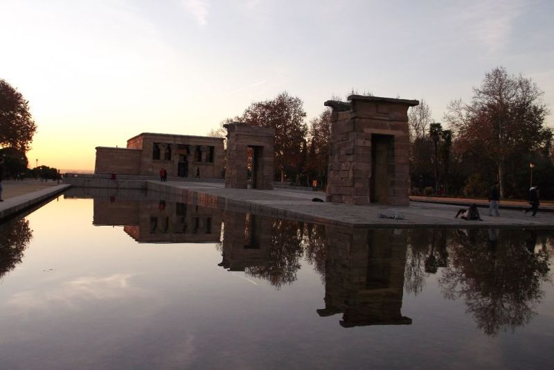 The Temple of Debod. - Madrid