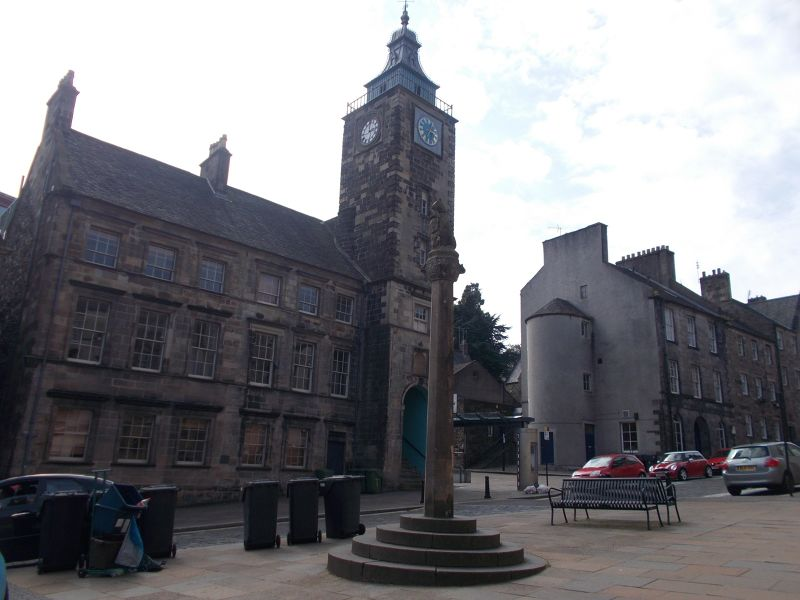 The Tollbooth and Mercat Cross. - Stirling