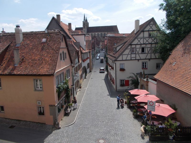 Views from the walls. - Rothenburg ob der Tauber