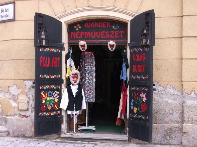 Folk art shop on Fo Ter - Sopron