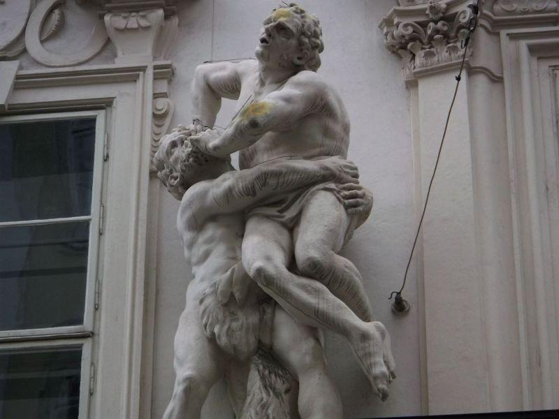 Interesting facade. - Vienna