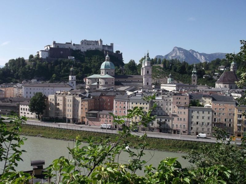 View towards the fortress. - Salzburg