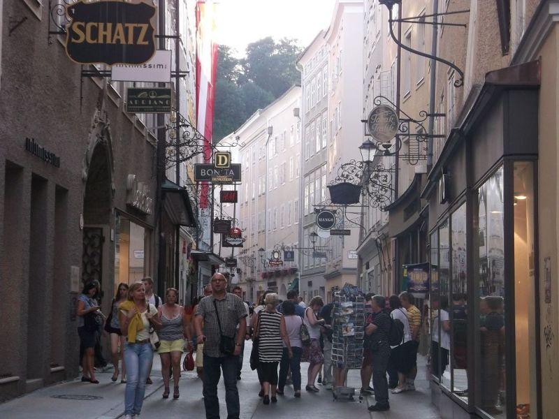 lots of shop signs. - Salzburg
