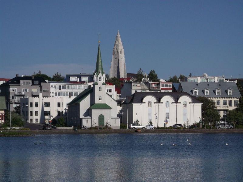 View towards churches. - Reykjavík