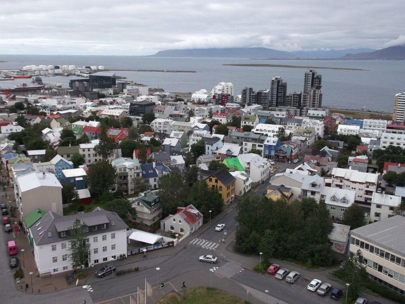 View from Hallgrimskirkja. - Reykjavík