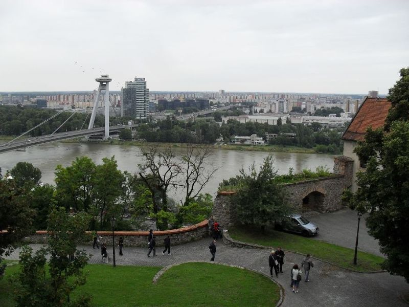 View towards Novy Most Bridge over the Danube - Bratislava