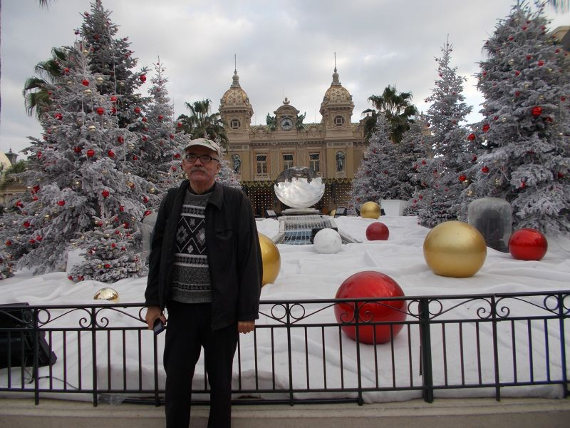 Peter outside The Casino of Monte Carlo - Monaco