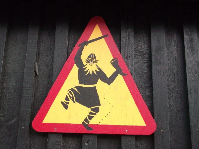 Beware Drunken Vikings In Hafnarfjordur.