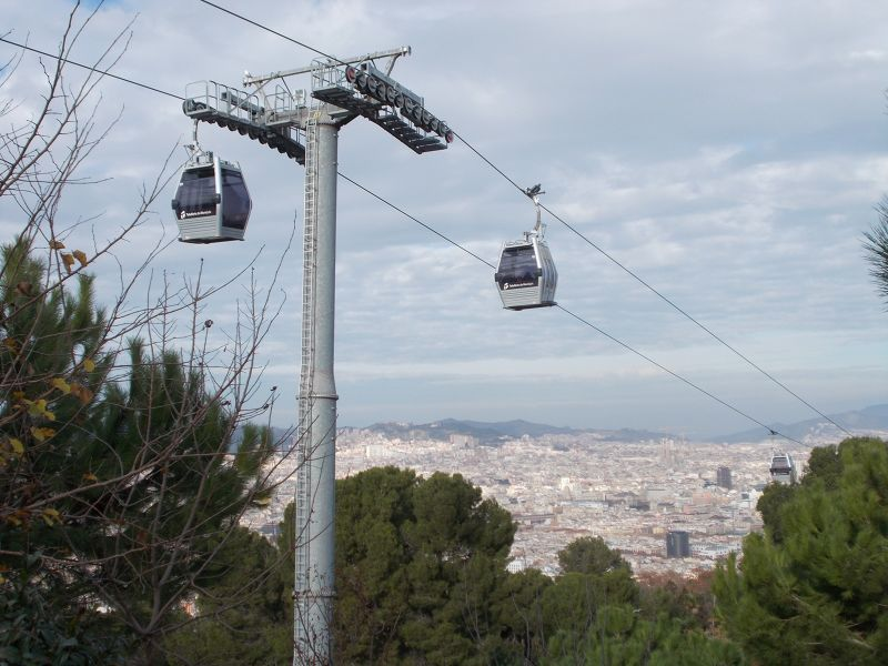Cable car to Montjuic Castle - Barcelona