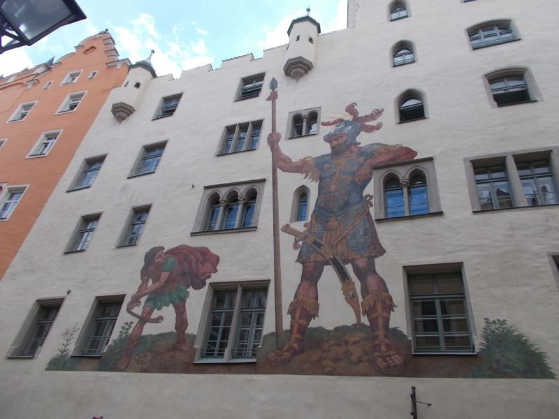 The David and Goliath Mural - Regensburg