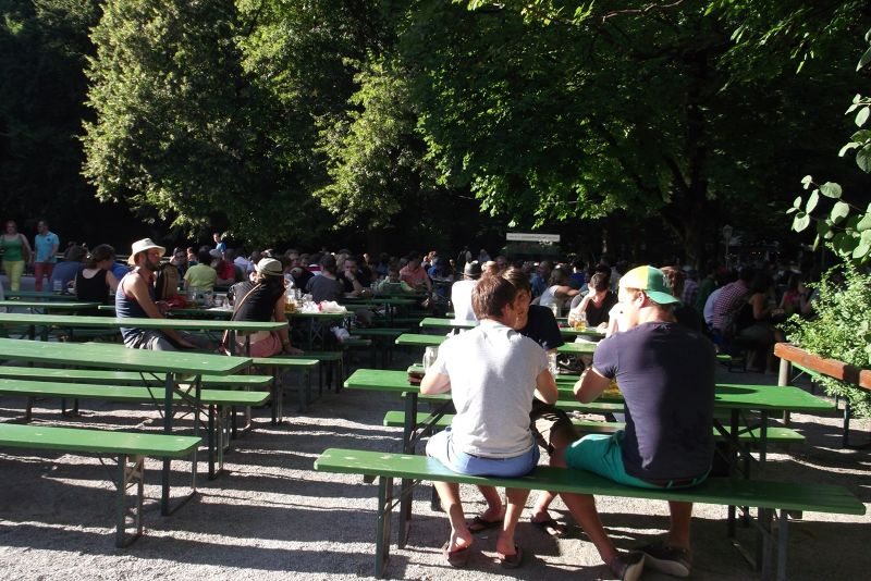 The English Gardens - Beer Hall. - Munich