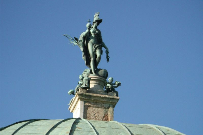 Sculpture of Bavaria, Hofgarten. - Munich