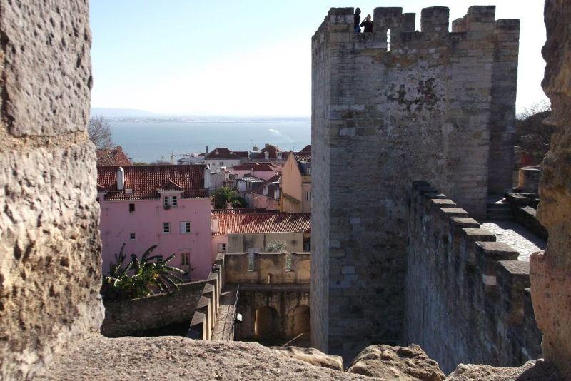 Lisbon viewed from the castle walls. - Lisbon