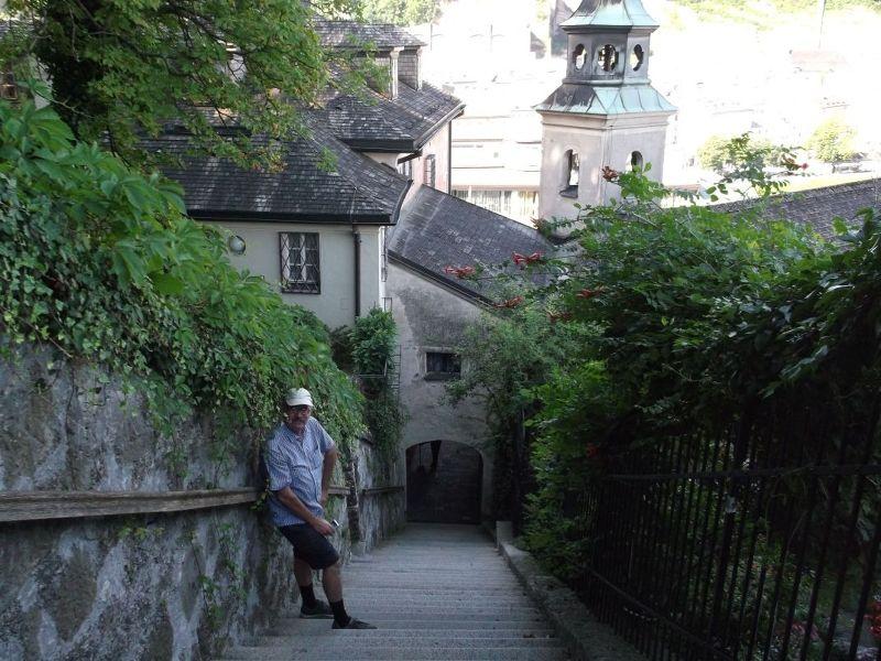 The climb up the Kapuzineberg. - Salzburg