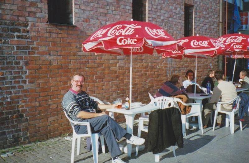 Enjoying a beer in Gdansk. - Poland