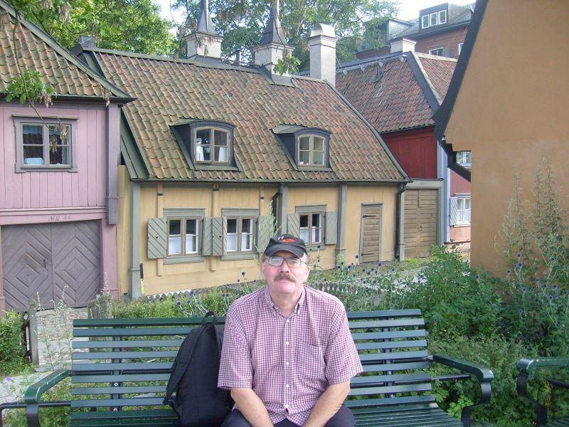 My husband in  Fjällgatan. - Stockholm