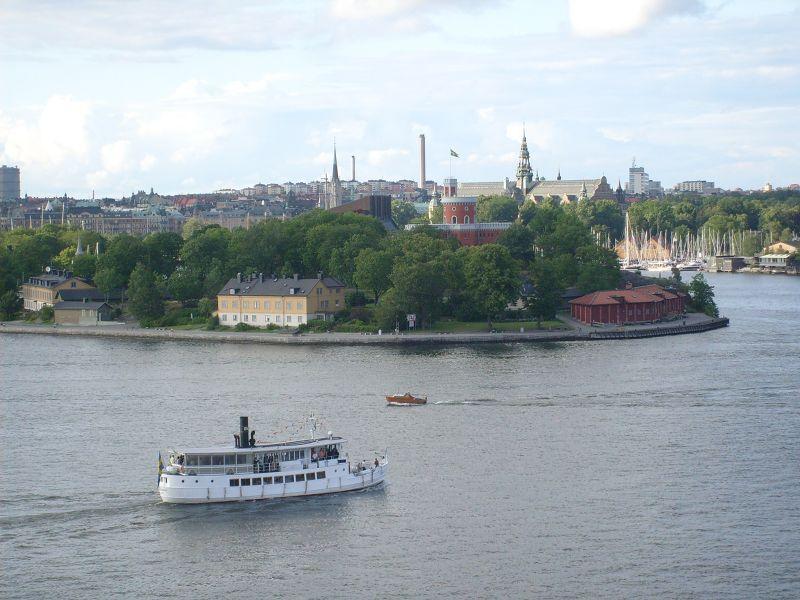 View from  Fjällgatan. - Stockholm