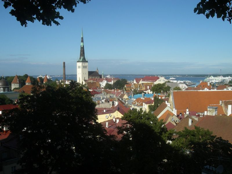 View over the lower town. - Tallinn
