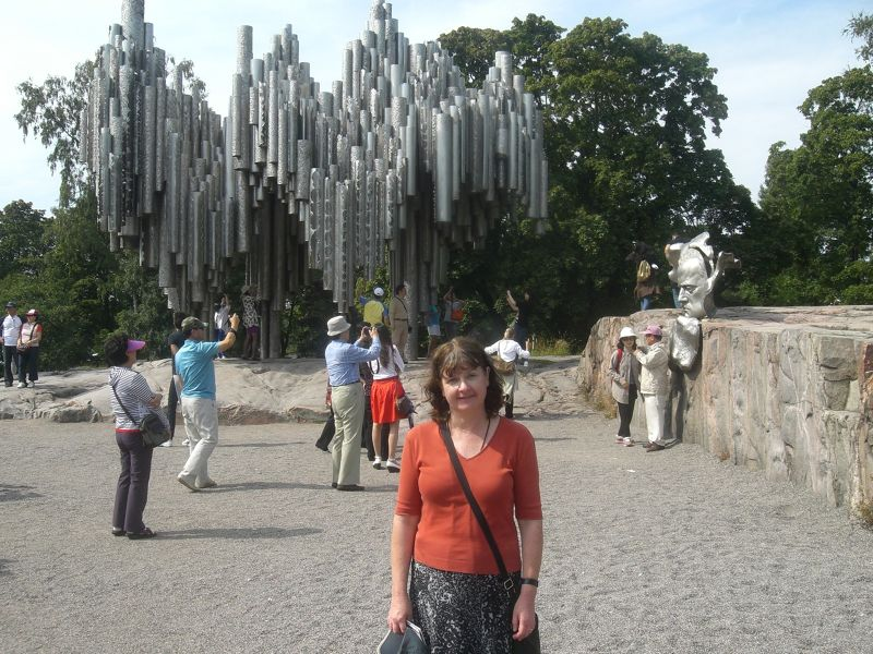 Me at the  monument - Helsinki