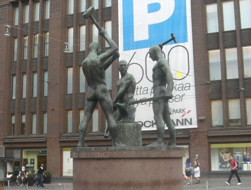The Three Smiths Statue