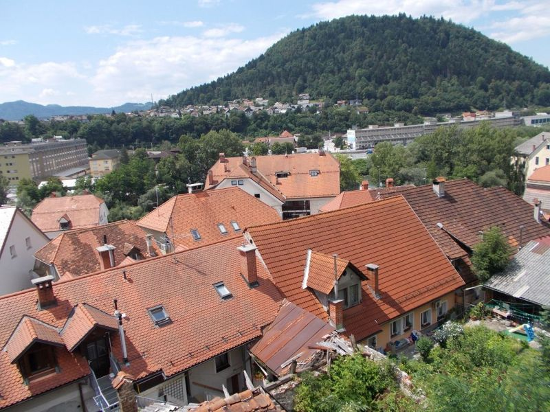 View over Kranj from the castle. - Kranj