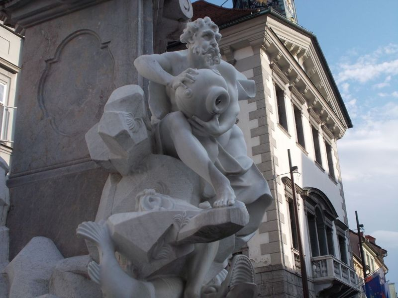 Detail of fountain. - Ljubljana