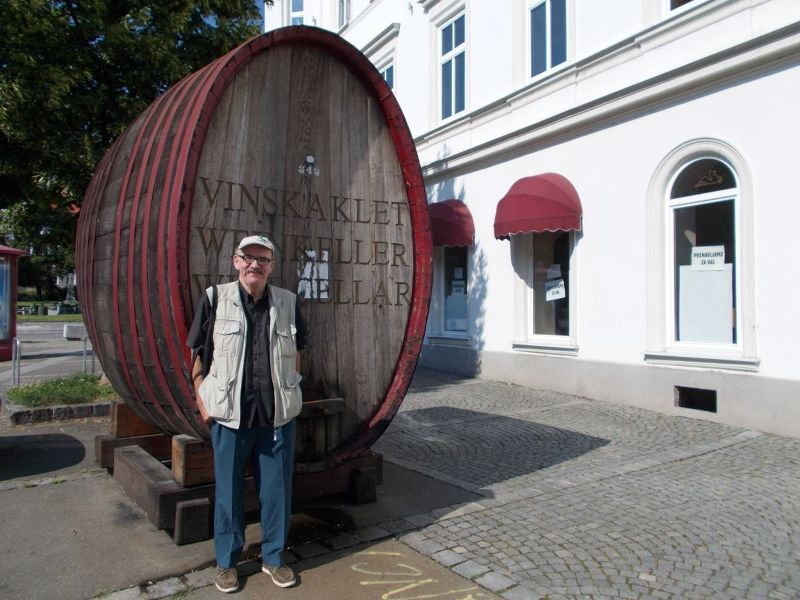 Peter outside the Wine Museum. - Maribor