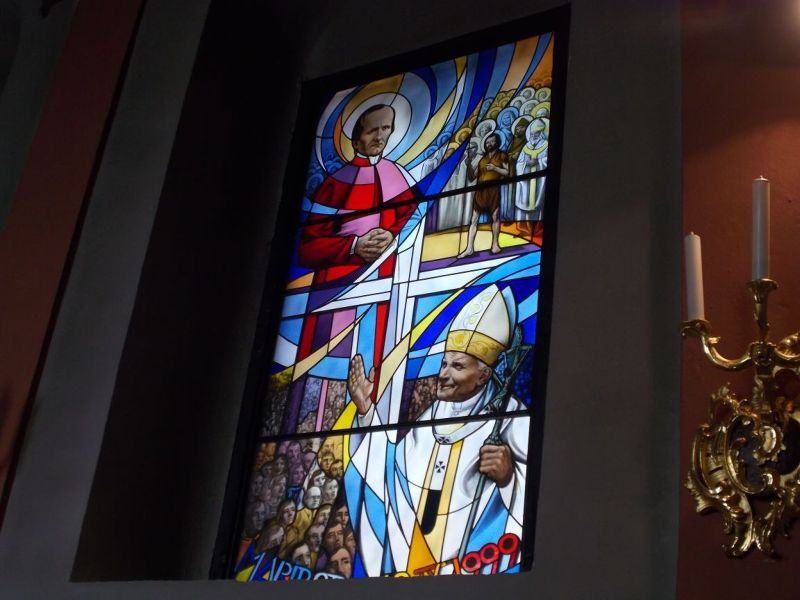 Window in Cathedral - Maribor