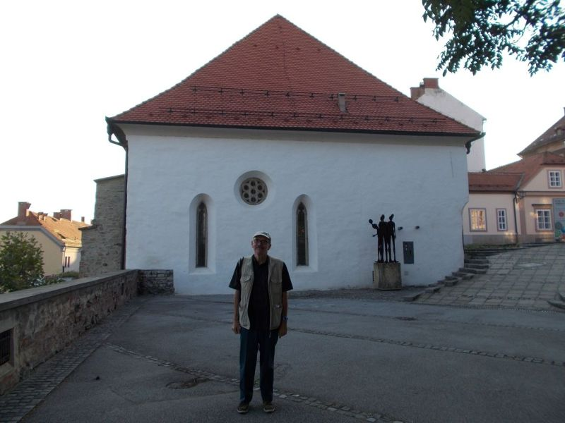 Peter at the synagogue - Maribor