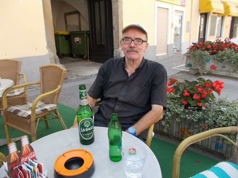 Enjoying a drink in Ptuj. - Ptuj