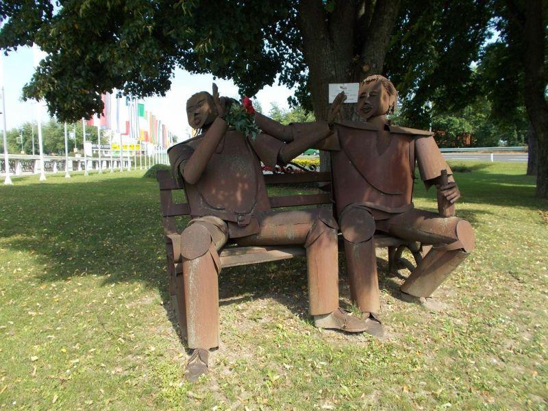 Monument near the river. - Ptuj