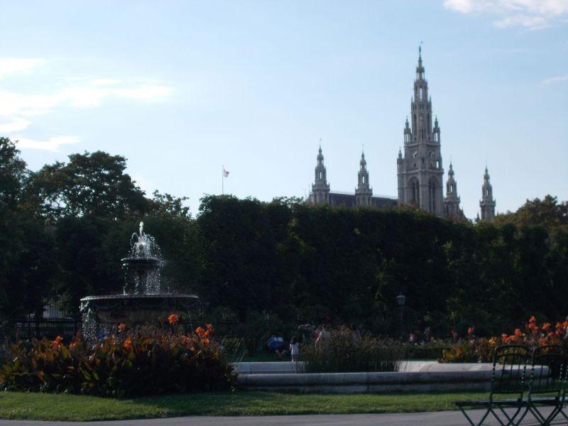 Rose Garden and Town Hall - Vienna