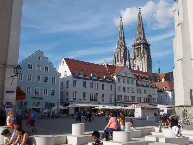 Cathedral spires. - Regensburg