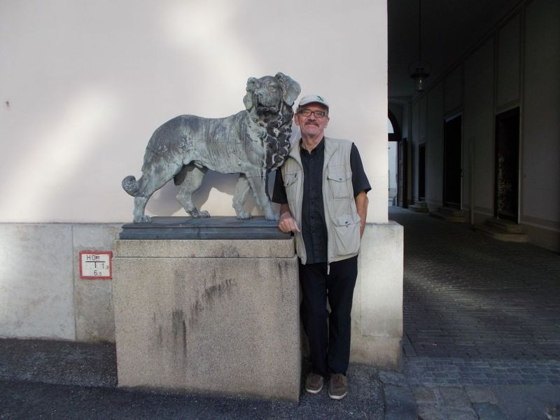 Peter with Canine Friend. - Regensburg