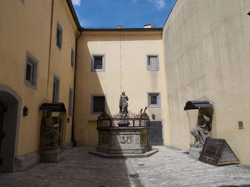 Town Hall courtyard. - Regensburg