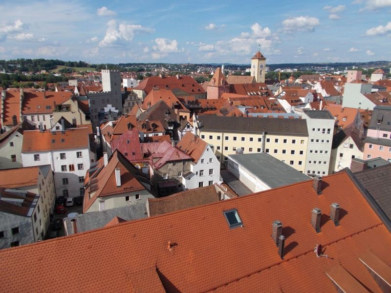 View from church tower - Regensburg
