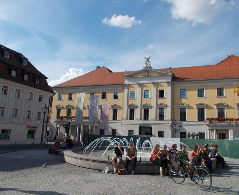 Fountain outside theatre - Regensburg