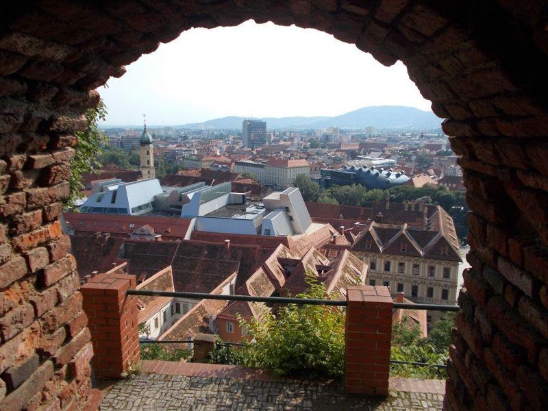 View from Schlossberg. - Graz