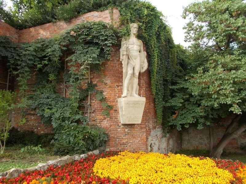 Statue near Clock Tower - Graz