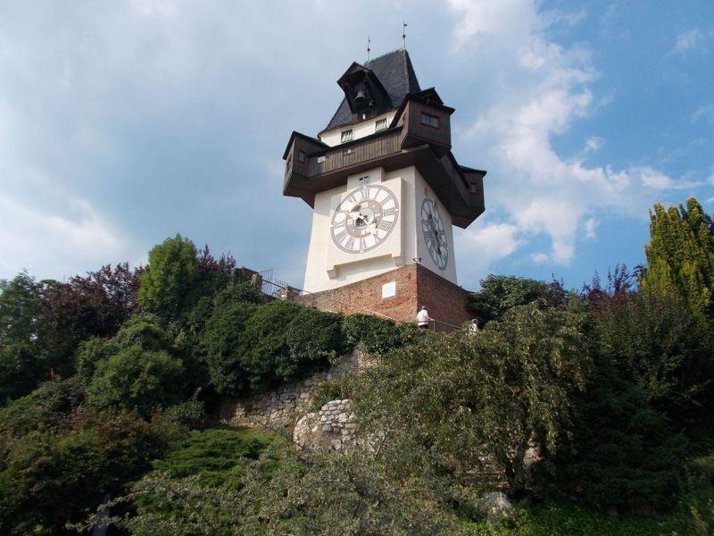 Clock Tower from Hanging Gardens - Graz