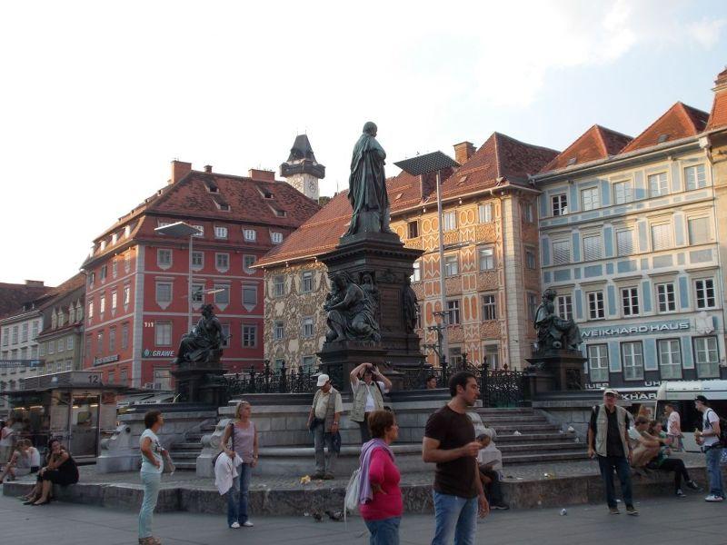 Fountain. - Graz