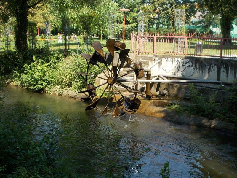 Waterwheel, Volksgarten - Graz