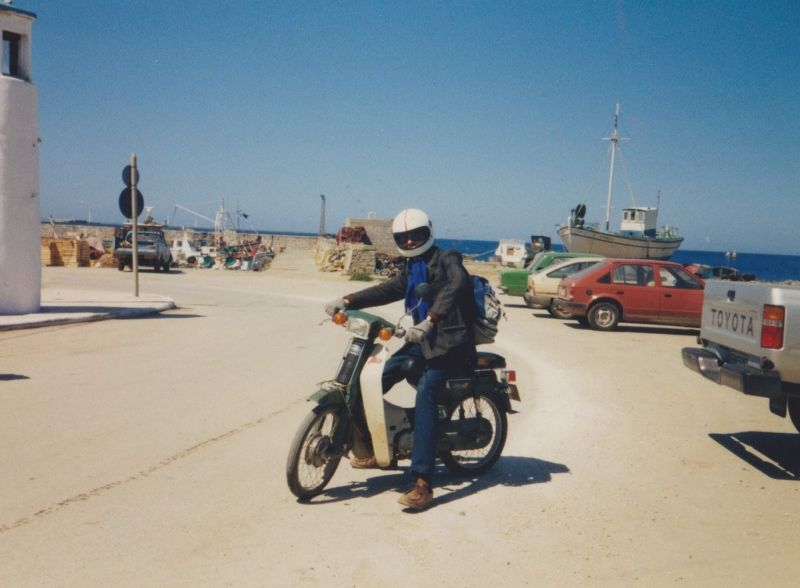 Michael and his bike. - Greece