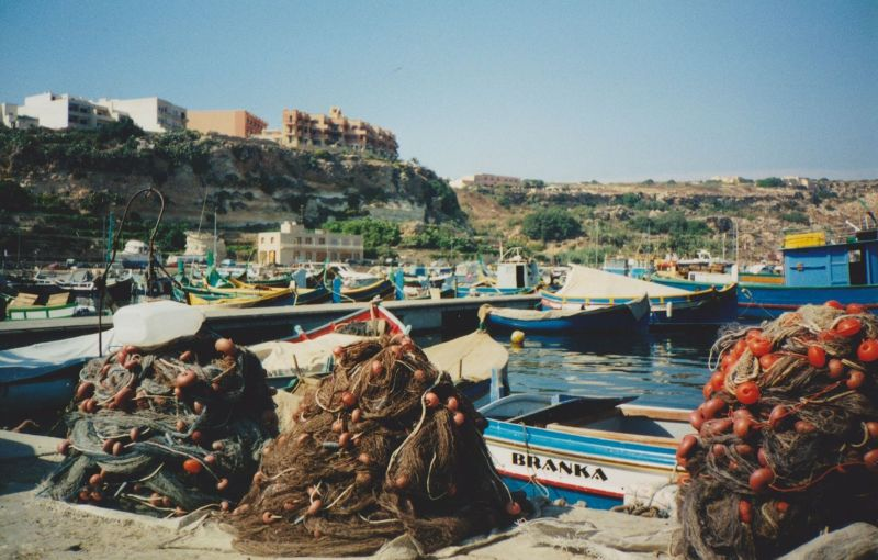 Fishing nets, Malta. - Malta