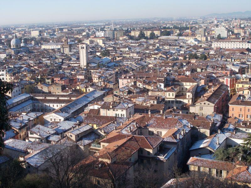 Brescia Castle and its views.