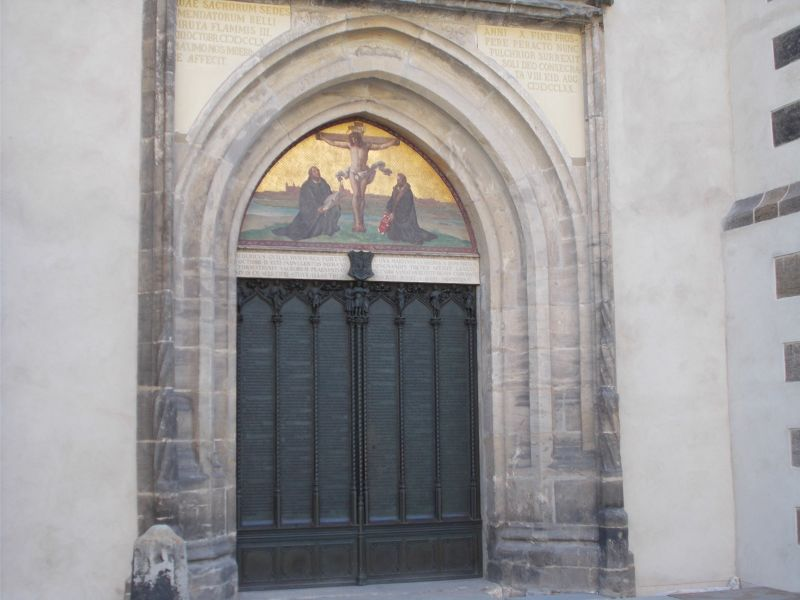 The doors with the theses on them. - Wittenberg